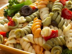 Italian Pasta Salad Recipe - Good recipe!  I added pepperoni, mozzarella cheese cubes, and no tarragon.  But added some other spices instead.