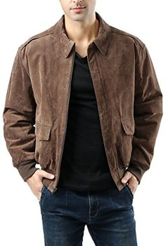 SALE PRICE $99.99 - Landing Leathers Men's Air Force A-2 Suede Leather Flight Jacket (Regular & Tall)
