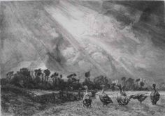170: Felix Bracquemond etching and drypoint : Lot 170