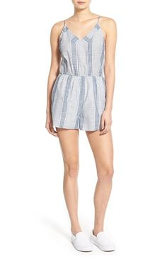 Lush Stripe V-Neck Romper available at #Nordstrom