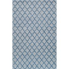 Rugs America Madison Brazil Blue Rectangular Indoor Tufted Area Rug (Common: 5 x 8; Actual: 60-in W x 96-in L)