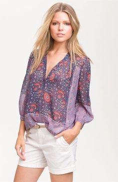Joie Frazier Sheer Silk Floral Pattern Blouse sz S #Joie #Blouse #Casual