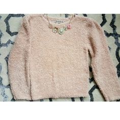 Vintage DVF Fuzzy Sweater Stay warm in this cozy, soft, vintage, original Diane Von Furstenberg sweater. Salmon colored Diane von Furstenberg Sweaters Crew & Scoop Necks