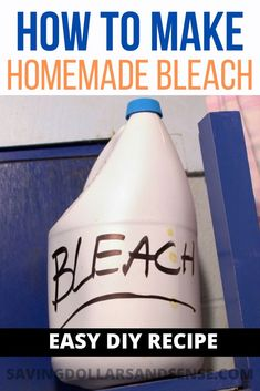 Diy Household Tips 88875792635450919 - How to Make Bleach when you run out or don't want to use the toxic kind. This homemade bleach recipe is easy to make using just a few ingredients. Source by kristiesawicki