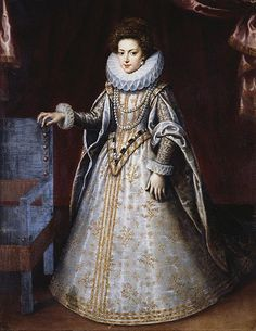 Henrietta Maria as Princess of France by Frans Pourbus the younger
