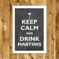 Martini Bar Art Keep Calm Poster, Bar Art Bartender Party decor James Bond Party, James Bond Theme, Yerba Mate, Martini Party, Martinis, Cocktails, Drinks, Breaking Bad Poster, Beatles Party