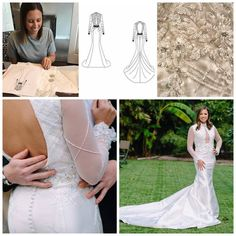 Our Custom dress process! #weddings #customweddingdresses #couture #beading