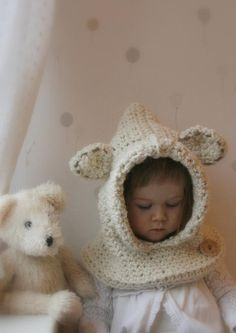 Looking for your next project? You're going to love Polar bear hood Bessy by designer Muki Crafts. - via @Craftsy