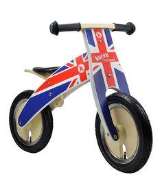 This Union Jack Kurve Balance Bike by Kiddimoto is perfect! #zulilyfinds