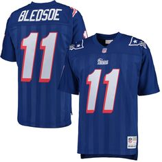 9288d0d81db Drew Bledsoe New England Patriots Mitchell   Ness Retired Player Replica  Jersey - Royal