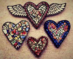 Embroidery Heart Love Wall Art Ideas For 2019 Embroidery Hearts, Embroidery Monogram, Heart With Wings, I Love Heart, Love Wall Art, Mosaic Wall Art, Fire Heart, Mosaic Crafts, Mexican Folk Art