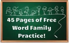 Word Family Sentences! 45 pages of free word family practice!