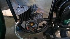 armado de encendido de motor sachs 100/2 que equipaba la moto argentina broadway