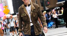 http://chicerman.com  billy-george:  Cool dude  Spotted at New York Fashion Week  Photo by George Elder  #streetstyleformen
