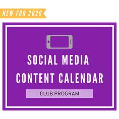Social Media Content Calendar: Club Volleyball