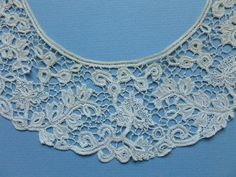 An Antique Youghal Irish Needle Lace Collar with Flower Leaf Design | eBay
