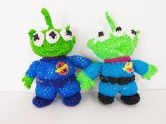 Toy Story Alien Martian Rainbow Loom Bands Amigurumi Loomigurumi Hook On...