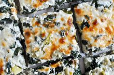 Cheesy Spinach and Artichoke Pizza ~ How Sweet It Is