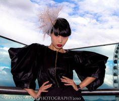 Little Mo Headpiece by the Fairground.  Mes Petits Chapeaux Photography - Maria McGrail  Model - Yomiko Chen  MUA- Sarah Cullen