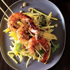Grilled Shrimp Salad with Mango Dressing - Rachael Ray Every Day