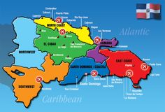 Map showing Boca Chica near the Capital Samana, Sosua, Dominican Republic Map, Tourist Info, Voyager Loin, Las Vegas, Thinking Day, Punta Cana, Romantic Travel
