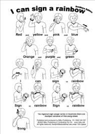 Sign Language - I Can Sign A Rainbow - Southern Edition Sign Language Colors, Sign Language Songs, Sign Language Chart, Sign Language For Kids, Sign Language Interpreter, Sign Language Alphabet, Learn Sign Language, Language Lessons, Australian Sign Language