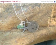 Lime Green Chalcedony Hand Stamped Wish To Be by KottageKreations, $26.60