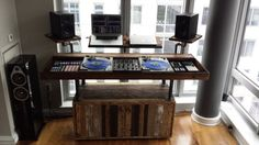 Reclaimed wood DJ Booth