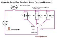 Ac calculating the capacitor values to control ceiling fan speed Ac calculating the capacitor values to control ceiling fan Ac Fan, Ohms Law, Electronics Basics, Circuit Diagram, Ceiling Fan, Type, Ceiling Fan Pulls, Ceiling Fans