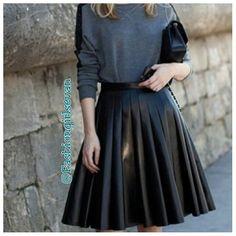 #mulpix Bom dia meus amores!!!!!! Look maravilhoso...amei essa saia plissada de napa...Perfectsss.... ⬆🔝⬆😍😍😱👏🎀👆😍😍😘  #lookbook  #look  #lookperfeito  #saia  #saiaplissada  #couro  #napa  #black  #blusas  #topfashion  #toptop  #perfeiçao  #Perfeito  #lindo  #maravilhoso  #exuberant #tudolindo  #modaevangélica  #modafeminina  #modadegospel  #evangelicasnamodaoficial  #evangeliscastop  #evangelizarépreciso  #fashion  #fashionista  #love #paixão  #moda  Use o tag: #fashiongirlsevan