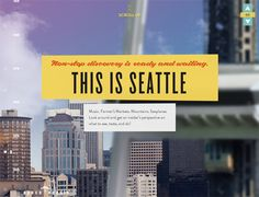 Example of breaking up space and encouraging exploration of parallax scrolling  http://www.spaceneedle.com/home/