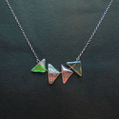 Spectrum dichroic glass necklace 4 piece by EmilyJohnstonGlass