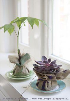 DIY jute, plants © Rosalie Noordam