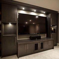Zebedee Home Renovation - contemporary - media room - calgary - by Urban Abode Media Room Design, Tv Wall Design, Home Room Design, Design Case, Modern Tv Unit Designs, Modern Tv Wall Units, Living Room Tv Unit Designs, Tv Unit For Bedroom, Tv Unit Furniture Design