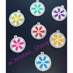Christmas baubles ham mini beads by christina_starup