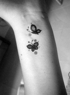 Fifty Small Tattoo Ideas #tattoos #tattooideas #smalltattoo #inked #ink #butterfly