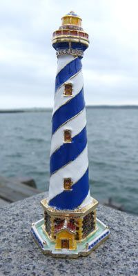 Have questions concerning nautical interior design? Find advice right here Lighthouse For Sale, Lighthouse Gifts, Lighthouse Decor, Lighthouse Painting, Nautical Bathroom Design Ideas, Nautical Interior, Beach Wood Signs, Glass Art Pictures, Summer Deco