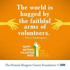 Happy National Volunteer Week from The Princess Margaret!