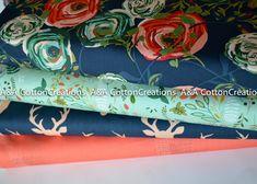 Designer Fabric, Quilters Fabric, Designer Cotton Bundle of 4,Art Gallery Fabrics, Coral Pink Mint Navy Fabric,Flower Fabric, Apparel Fabric Navy Fabric, Fabric Yarn, Mint And Navy, Flower Fabric, Art Gallery Fabrics, Photo Lighting, Coral Pink, Fabric Design, Swatch