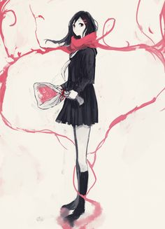 Kagerou Project, Tateyama Ayano, Bare Knees, Neckerchief, Bouquet