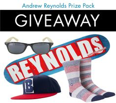 We've teamed up with the boss man himself Andrew Reynolds & concocted a fresh pair of mix-match socks, Speedway. Here is your chance to not only win a pair... you also get extra Reynolds signature goodies from our buddies at Baker Skateboards.     To enter, click on our Andrew Reynolds Prize Pack tab on our facebook page or click on the image above. The more times you share with your friends, the more chances you have to win, so get after it. We'll announce the lucky winner August 31.
