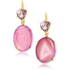 ISHARYA Gemini Druzy Light Purple Earrings ... pret-a-beaute.com