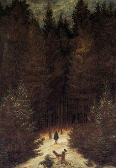 Caspar David Friedrich: The Chasseur in the Forest, 1814