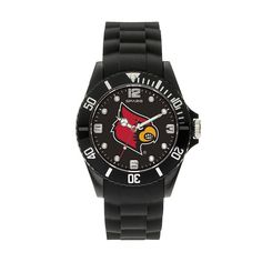 Sparo Men's Spirit Louisville Cardinals Watch, Black