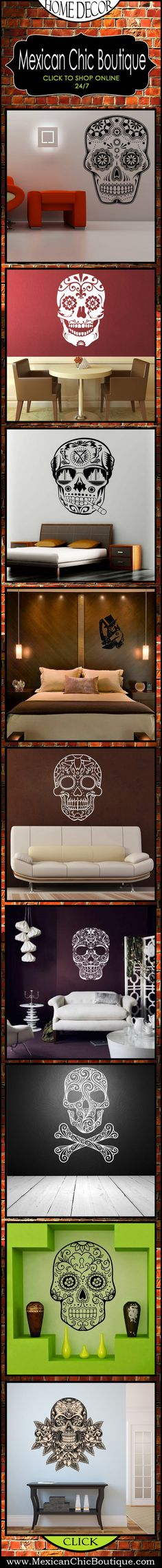 Mexican Decorations | Home Decorating Accessories | Home Decor | Mexican Art | Mexican Folk Art | SHOP NOW ♥ http://www.mexicanchicboutique.com/p/skulls.html