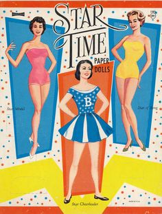 Star Time  (My star paper dolls where from the 1940s and included skater Sonia Hinney.)