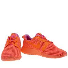 womens nike orange roshe one hyperfuse br trainers
