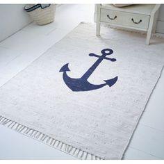 Teppich Anker, mit Ankermotiv, Maritimer Look, Baumwolle Katalogbild