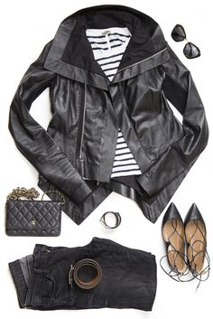 black - leather jacket