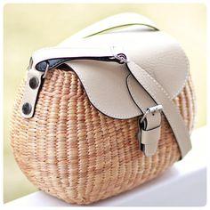 FREE SHIPPING Handwoven straw bag basket straw crossbody